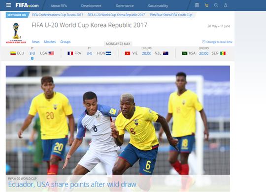 '추가시간 동점골' 미국, 에콰도르와 3-3 극적 무승부