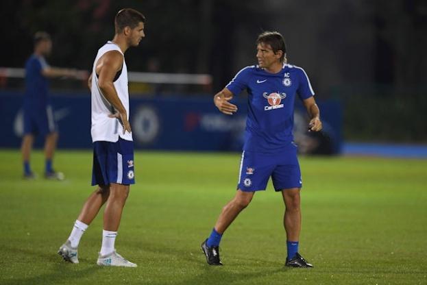 '첼시 합류' 모라타, 첫 훈련부터 콘테에 특훈