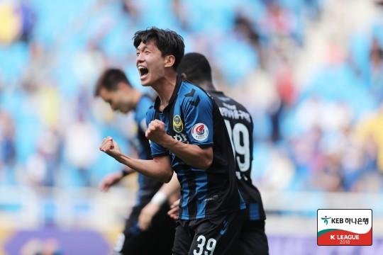 '임은수 극적골' 인천, 울산과 1-1 무승부